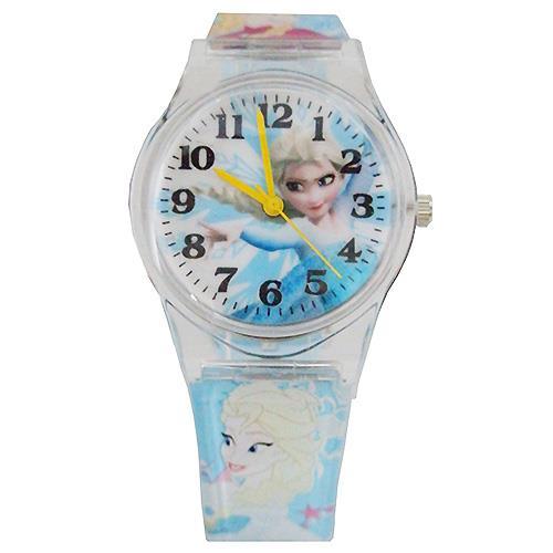 【迪士尼】FROZEN冰雪奇緣艾莎兒童錶卡通錶(藍)