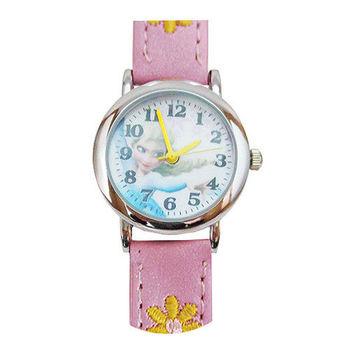 【迪士尼】FROZEN冰雪奇緣繡花兒童錶卡通錶-艾莎