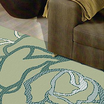 范登伯格 荷希素描寫真絲質地毯-玫瑰(綠)-140x200cm