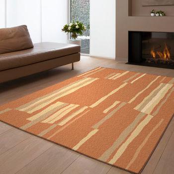 范登伯格 愛蕊流線典雅仿羊毛地毯-格彩(橘)-160x230cm