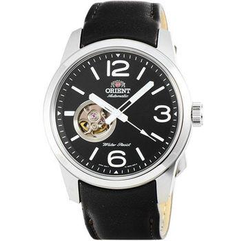 ORIENT 東方錶經典鏤空機械皮帶錶-黑 / FDB0C003B (原廠公司貨)