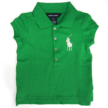 Polo by Ralph Lauren 大馬Logo蘋果綠色網眼POLO衫(小孩2/2T)