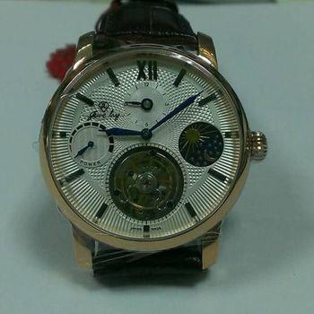 JL動力顯示日夜陀飛輪機械腕錶