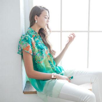DECOBA日本琉璃雪紡清涼襯衫組(3件)
