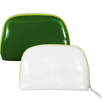 LA MER 海洋拉娜 簡約色調漆皮化妝包(綠)+(白)
