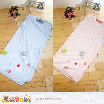魔法Baby~鋪薄棉冷氣房寶寶用睡袋(藍.粉)~k40098