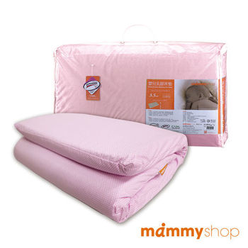 媽咪小站-嬰兒乳膠加厚小床墊 (粉)