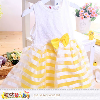 魔法Baby~洋裝 蕾絲無袖洋裝 女童裝~k40401