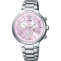 CITIZEN XC 浪漫城市鈦金屬光動能計時腕錶 ^#45 粉紅x銀 FB1330 ^#