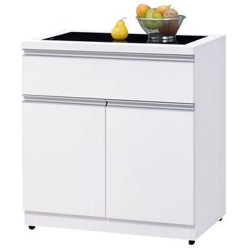 時尚屋 [UZ5]素娜白色3尺碗盤櫃913-5
