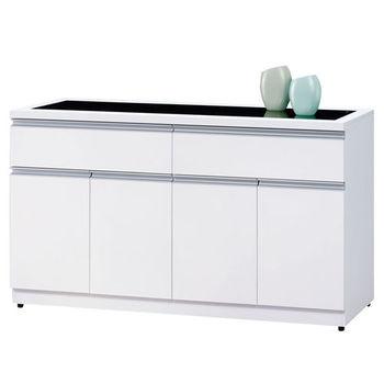 時尚屋 [UZ5]素娜白色5尺碗盤櫃913-3