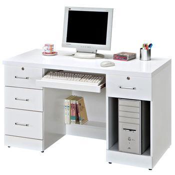 時尚屋 [G15]艾因純白4尺電腦桌262-5