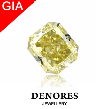DENORES GIA 2.53ct  天然黃彩鑽裸石-專