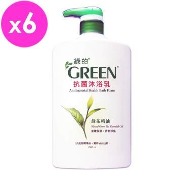 綠的GREEN 抗菌沐浴乳-綠茶精油1000ml*6入組