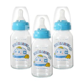 新幹線晶鑽玻璃小奶瓶3支(120ml)