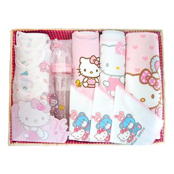 Hello Kitty彌月禮盒組(晶鑽大玻璃奶瓶)
