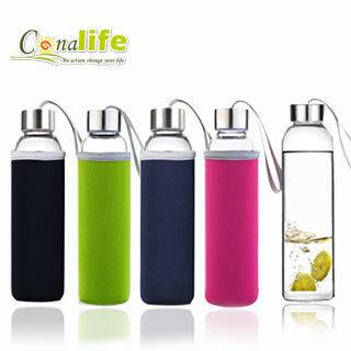 【Conalife】冷熱兩用玻璃水瓶550ml_3入組