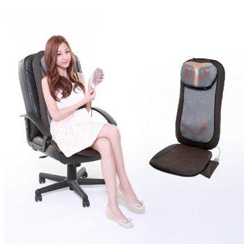 NEW AIR 八核心二合一行動按摩椅墊(咖啡色)