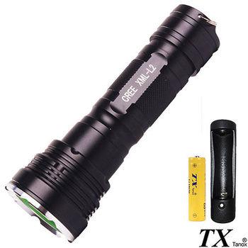 【特林TX】美國CREE L2 LED勁酷黑隨身手電筒(T-R8X6-1B)