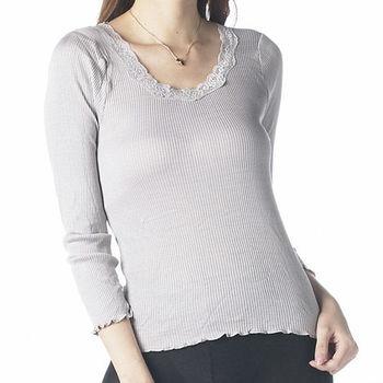 【賽凡絲 】時尚典雅蠶絲長袖上衣超值3件組