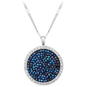 【CDE】施華洛水晶元素海洋藍寶石(項鍊一條)