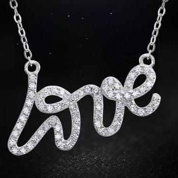 【CDE】LOVE我愛你(925銀項鍊一條)