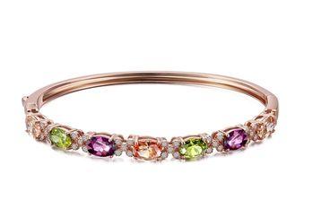 【CDE】璀璨鍍玫瑰金(925銀手環一個)
