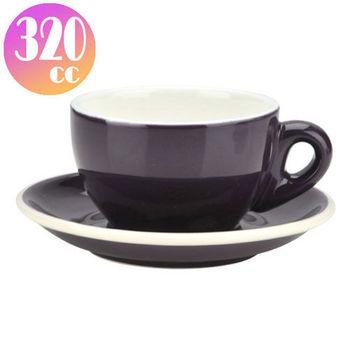 TIAMO 拿鐵杯盤組 5客 320cc 紫-HG0855P