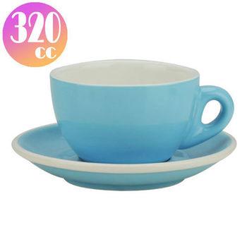TIAMO 拿鐵杯盤組 5客 320cc 淡藍-HG0855BB