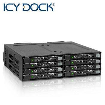 ICY DOCK 8x2.5吋SATA/HDD熱插拔抽取模組-MB998SP-B