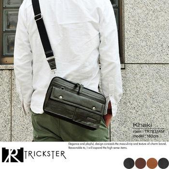 【TRICKSTER】日本品牌 手拿包 腰包 斜背包 A5 腳踏車包 3用 都會潮流【tr78】