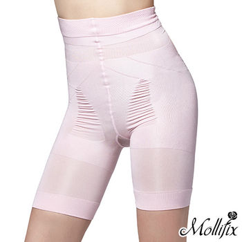 【Mollifix】280丹微笑蜜桃翹翹5分褲 (粉色)