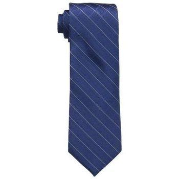 【Calvin Klein】2015男時尚Etched深藍窗玻璃圖案真絲領帶(預購)