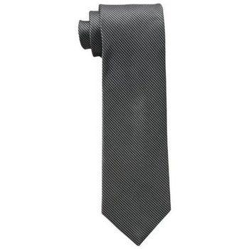 【Calvin Klein】2015男時尚Steel Micro B黑色格圖紋真絲領帶(預購)