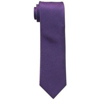 【Calvin Klein】2015男時尚Steel Micro莓果色菱形圖案真絲領帶(預購)