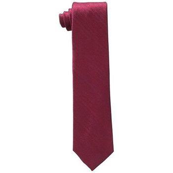 【Calvin Klein】2015男時尚酒紅色條紋真絲領帶(預購)