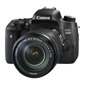 [32G+原電組]【Canon】 EOS 760D 18-135mm KIT(公司貨)