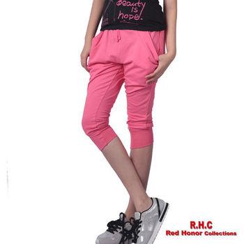 【R.H.C】時尚造型口袋運動七分褲