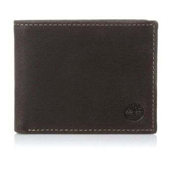Timberland 2015男時尚Delta雙折黑褐色皮夾(預購)