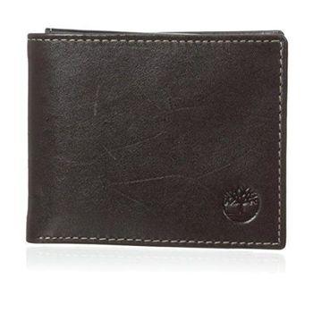 Timberland 2015男時尚Shiny光澤雙折黑褐色皮夾(預購)