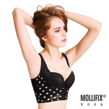 【Mollifix】Body偽妝術波波UP短馬甲 (黑加侖)