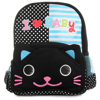 可愛日風幼兒背包-小黑貓咪