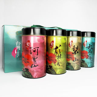 【台灣茶人】迎春茗茶大賞春茶禮盒1組(大禹嶺+梨山+阿里山+杉林溪)