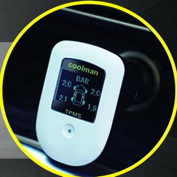 【新款 COOLMAN】胎外式汽車胎壓偵測器(含胎溫電瓶顯示)