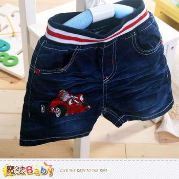 魔法Baby~男童牛仔褲 夏季牛仔短褲~k40500