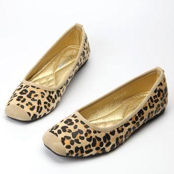 【BYN】仿豹紋平底娃娃鞋(一雙)
