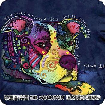 【摩達客】美國進口The Mountain 彩繪德國狼犬  純棉環保短袖T恤