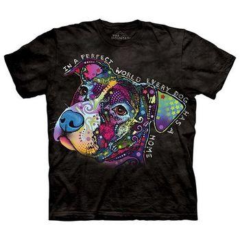 【摩達客】美國進口The Mountain 彩繪完美米克斯  純棉環保短袖T恤
