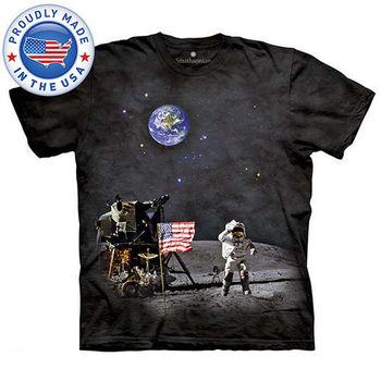 【摩達客】(預購)美國進口The Mountain Smithsonian系列登陸月球 純棉環保短袖T恤