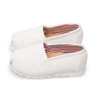 FUFA MIT 純色素面懶人鞋 (FNB02) 白